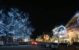 圣诞节照明设备在Leavenworth 14 免版税图库摄影