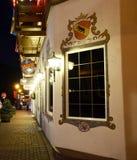 圣诞节照明设备在Leavenworth 19 图库摄影