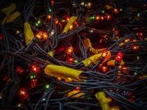 圣诞节照明设备设施 免版税库存图片