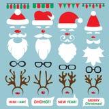 圣诞节照片摊和scrapbooking的传染媒介集合 免版税图库摄影