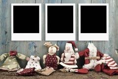 圣诞节照片框架背景 免版税库存照片