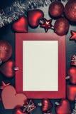 圣诞节照片框架 免版税库存图片