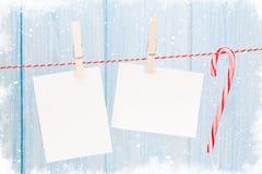 圣诞节照片框架 库存图片