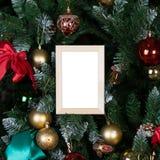 圣诞节照片框架 免版税库存照片