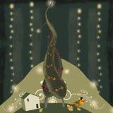 圣诞节爱护树木 库存图片