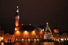 圣诞节爱沙尼亚塔林 库存照片