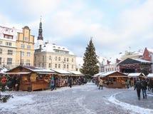 2009年圣诞节爱沙尼亚市场照片被采取的塔林 免版税库存图片