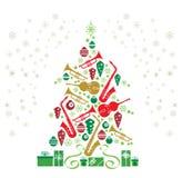 圣诞节爵士乐结构树 库存图片