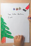 圣诞节父亲信函 免版税图库摄影