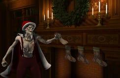 圣诞节父亲stockingfiller僵死 免版税库存图片