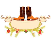圣诞节牛仔 免版税库存图片