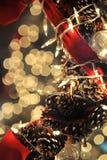 圣诞节特写镜头结构树 库存照片