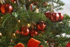 圣诞节特写镜头结构树 免版税库存图片