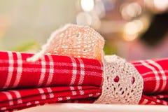 圣诞节特写镜头表 免版税库存图片