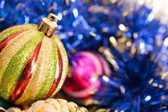 圣诞节玩具。 免版税库存照片