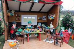 圣诞节玩具商店 免版税库存照片