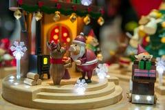 圣诞节玩具场面 免版税库存图片