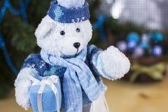 圣诞节玩具熊 免版税库存图片