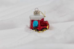圣诞节玩具蒸汽火车 免版税库存照片