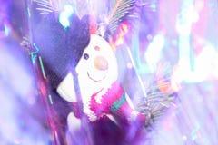 圣诞节玩具雪人 免版税库存图片