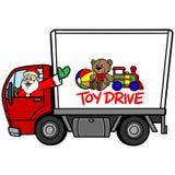 圣诞节玩具驱动 向量例证