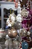 圣诞节玩具,圣诞节球的构成 免版税库存图片