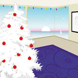 圣诞节现代结构树白色 库存照片