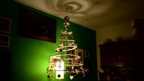 圣诞节现代结构树 股票视频