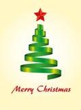 圣诞节现代结构树 库存照片