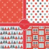 圣诞节现代样式集合 新年度节假日 免版税库存照片