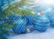 圣诞节玻璃球 免版税图库摄影