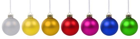 圣诞节球中看不中用的物品横幅被隔绝的deco装饰 免版税库存图片