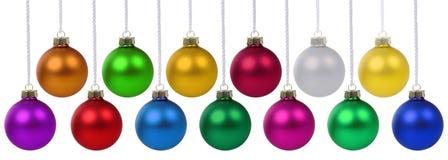 圣诞节球中看不中用的物品横幅deco被隔绝的装饰垂悬 免版税图库摄影