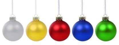 圣诞节球中看不中用的物品被隔绝的deco装饰 库存图片