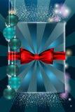 圣诞节球和繁文缛节 免版税库存照片