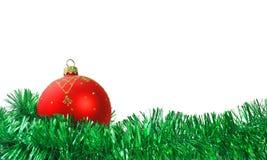 圣诞节球和诗歌选   图库摄影