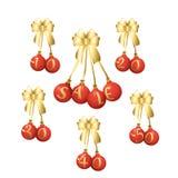 圣诞节球和销售 免版税库存照片
