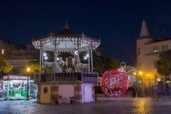 圣诞节球在法鲁市 库存照片