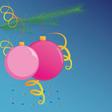 圣诞节球垂悬 免版税图库摄影