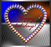 圣诞节球心脏和愿望 库存照片