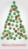 圣诞节球树 免版税库存照片