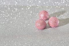 圣诞节球桃红色 库存图片