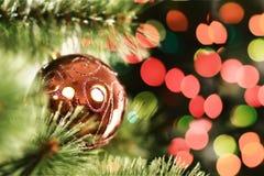 圣诞节球特写镜头从 免版税库存图片