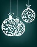 圣诞节球白色颜色 免版税库存照片