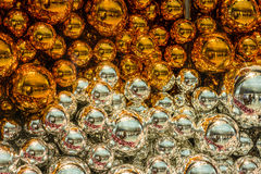 圣诞节球的五颜六色的收藏有用作为背景样式 免版税库存图片