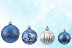 圣诞节球的收集 免版税库存图片