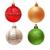 圣诞节球的收集 库存照片