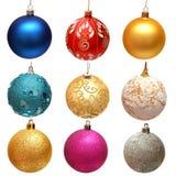 圣诞节球的收集 免版税图库摄影