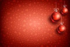 圣诞节球装饰品背景04 免版税库存照片
