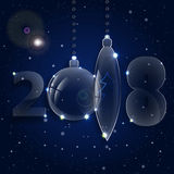 圣诞节球装饰品 庆祝前夕新年度 免版税图库摄影